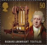 Pioneers of Industrial Revolution 50p Stamp (2009) Richard Arkwright - Textiles