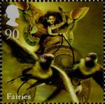 Mythical Creatures 90p Stamp (2009) Fairies