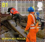 The Fire Service 81p Stamp (2009) Search and Rescue