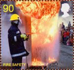 The Fire Service 90p Stamp (2009) Fire Safety