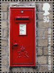 Postboxes 90p Stamp (2009) Elizabeth II Type A Wall Box