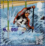 Olympic and Paralympic Games 2012 1st Stamp (2009) Canoe Slalom