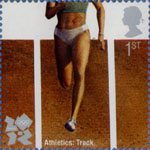 Olympic and Paralympic Games 2012 1st Stamp (2009) Athletics - Track