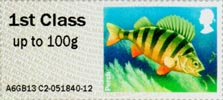 Post & Go: Lakes - Freshwater Life 2 1st Stamp (2013) Perch