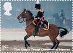 Working Horses 1st Stamp (2014) The King's Troop Ceremonial Horses