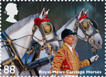 Working Horses 88p Stamp (2014) Royal Mews Carriage Horses