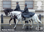 Working Horses £1.28 Stamp (2014) Police Horses