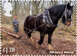 Working Horses £1.28 Stamp (2014) Forestry Horse