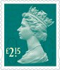 Definitives 2014 £2.15 Stamp (2014) Marine Turquoise
