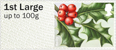 Post & Go: Winter Greenery - British Flora 3 1st Stamp (2014) Holly