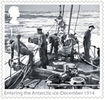 Shackleton and the Endurance Expedition 1st Stamp (2016) Entering the Antartic ice - December 1914