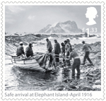 Shackleton and the Endurance Expedition £1.33 Stamp (2016) Safe arrival at Elephant Island - April 1916