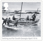 Shackleton and the Endurance Expedition £1.52 Stamp (2016) Setting out for South Georgia - April 1916