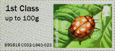 Post & Go : Ladybirds 1st Stamp (2016) Orange Ladybird