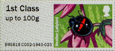 Post & Go : Ladybirds 1st Stamp (2016) Heather Ladybird