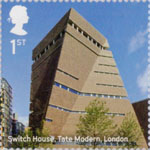Landmark Buildings 1st Stamp (2017) Switch House, Tate Modern, London