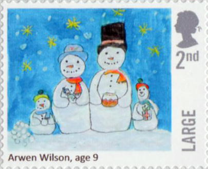 christmas 2017 2nd large stamp 2017 arwen wilson snowmen