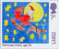 Christmas 2017 1st Large Stamp (2017) Ted lewis-Clark - Santa