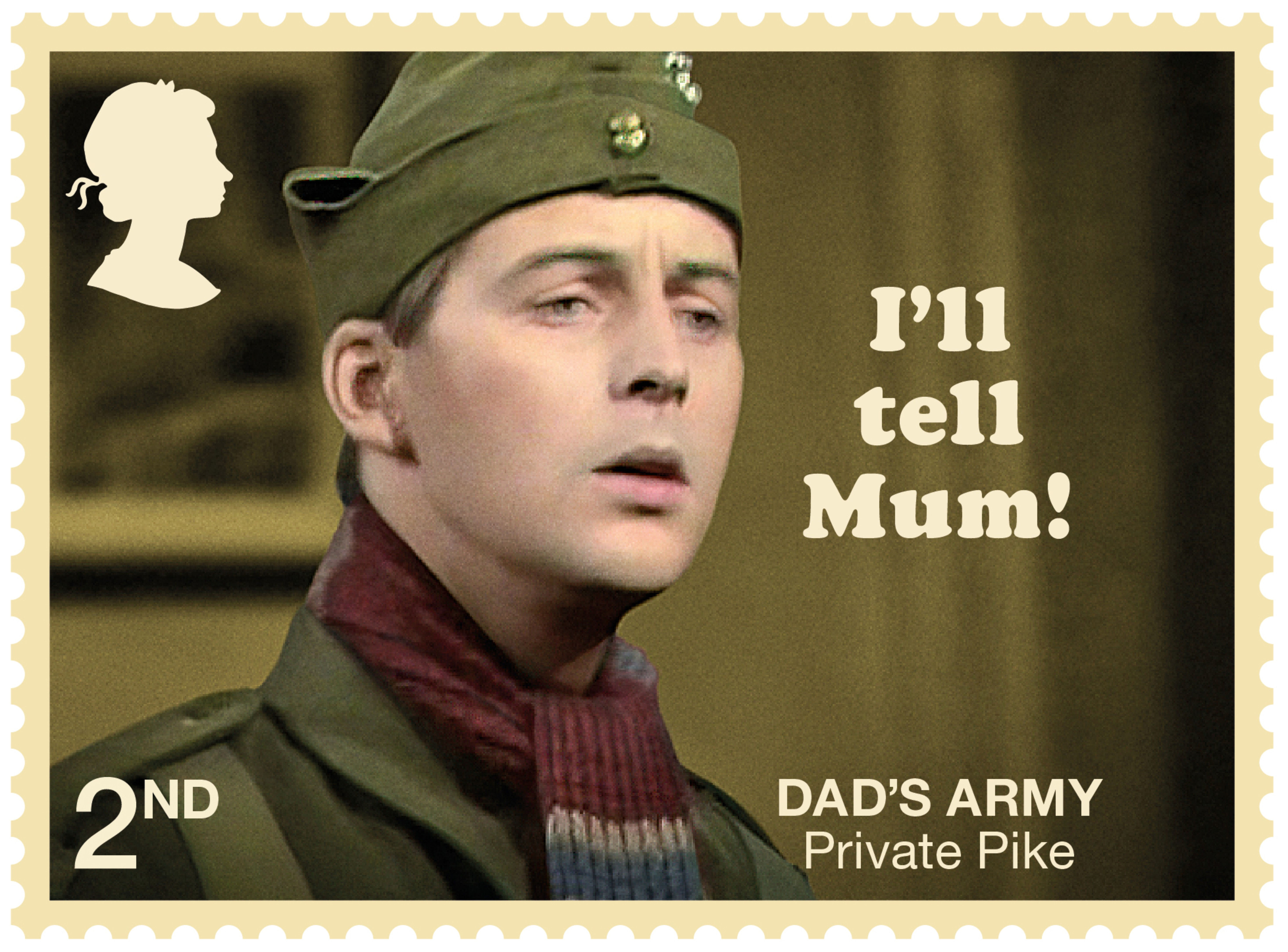 424f231a Dads Army 2nd Stamp (2018) Private Pike – I'll tell Mum!