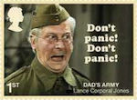 Dads Army 1st Stamp (2018) Lance Corporal Jones – Don't Panic, Don't Panic!