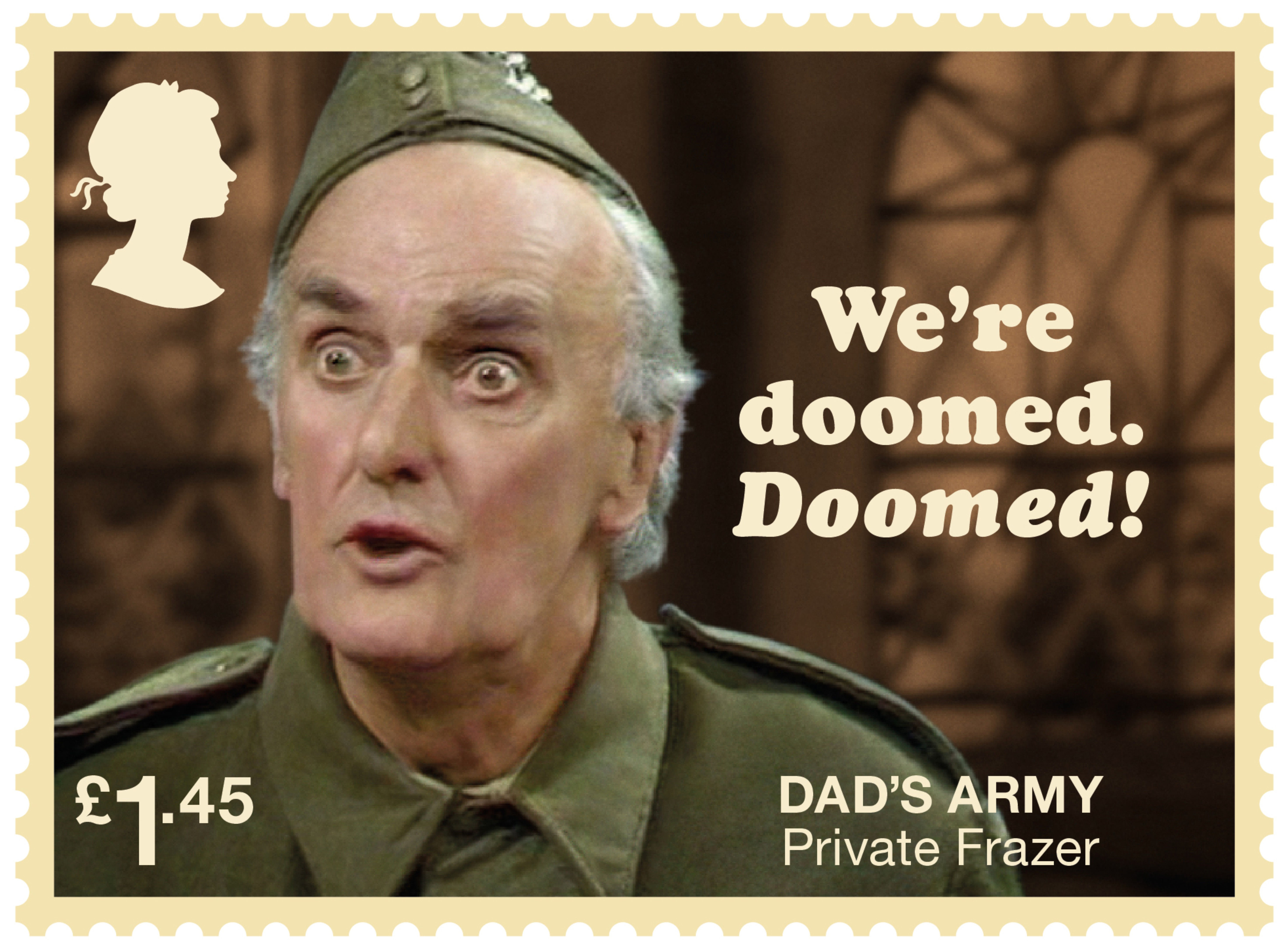 7db0cdd0 Dads Army £1.45 Stamp (2018) Private Frazer – We're doomed…