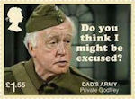 Dads Army £1.55 Stamp (2018) Private Godfrey – Do you think I might be excused?