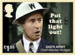 Dads Army £1.55 Stamp (2018) Chief Warden Hodges – Put that light out!