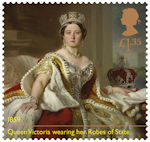 Queen Victoria Bicentenary £1.35 Stamp (2019) Victoria wearing Robes of State