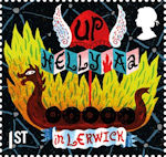 Curious Customs 1st Stamp (2019) Up Helly Aa