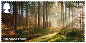Forests £1.55 Stamp (2019) Sherwood Forest
