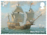 Royal Navy Ships 1st Stamp (2019) Mary Rose