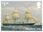 Royal Navy Ships £1.55 Stamp (2019) HMS Warrior