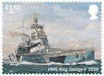 Royal Navy Ships £1.60 Stamp (2019) HMS King George V