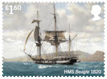 Royal Navy Ships £1.60 Stamp (2019) HMS Beagle