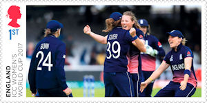 ICC Womens World Cup 2017 1st Stamp (2019) ICC Womens World Cup 2017