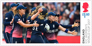 ICC Womens World Cup 2017 £1.60 Stamp (2019) ICC Womens World Cup 2017
