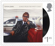 Music Giants - Elton John £1.55 Stamp (2019) Songs from The West Coast