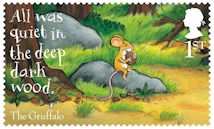 The Gruffalo 1st Stamp (2019) The Gruffalo – All was quiet in the deep dark wood.