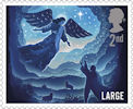 Christmas 2019 2nd Large Stamp (2019) Angel Gabriel
