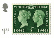 Stamp Classics £1.55 Stamp (2019) King George VI Penny Black Centenary (1940)