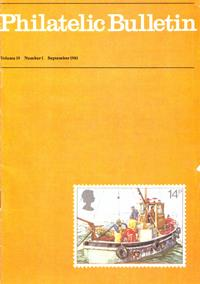 British Philatelic Bulletin Volume 19 Issue 1